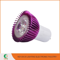 2016 zhongshan factory high quality PURPLE COLOR 3W dimmable cob led spot light