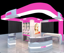 Modern Cosmetic Store Furniture/ Cosmetic Shop Interior Design/Style Makeup Kiosk