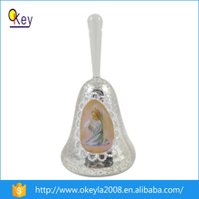 angel pattern christmas bell with led for christmas tree decoration