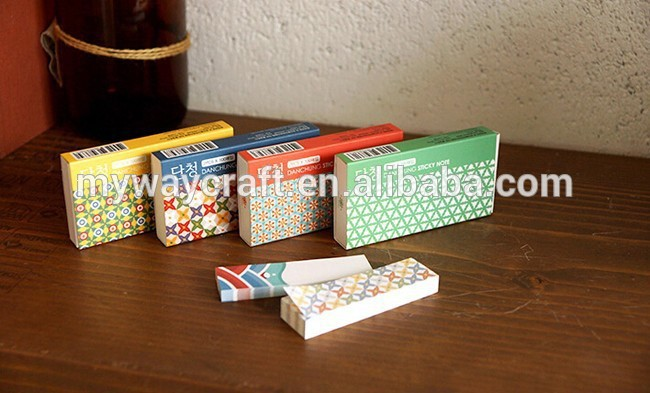 Floral mini size removable sticky notes bookmarkers with drawer type paper box