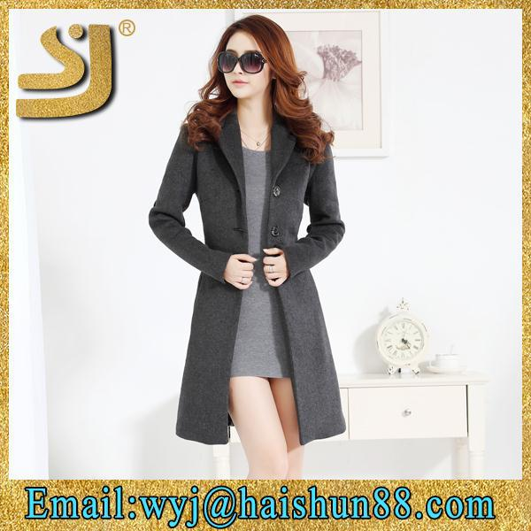 fancy high quality slim winter women's long coats,coat korean design
