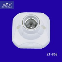 2015 Zhantai High Quality E 27 Screw Type Ceramic Lamp Holder
