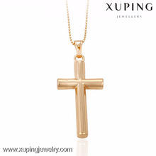 32408-Xuping Hot sale gold jesus piece pendant cross for women