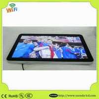 big 55 inch desktype or wall mounted LCD digital loop video signage photo frame for retail store