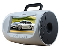 2016 super thin portable car dvd player with tv fm usb