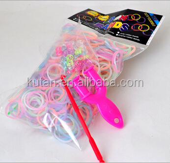 Wholesale cheap rainbow rubber bands loom kit