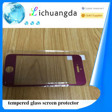 color tempered glass screen protector for iphone 5 5s screen protector