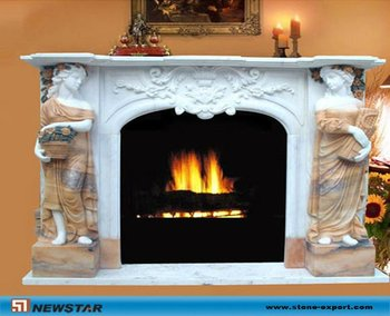 Modern marble fireplaces