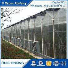 SINOLINKING Best Price aluminum greenhouse farm for sale for vegetable fruits