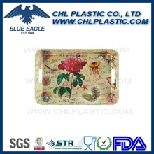 Promotional flower printing plastic serving tray
