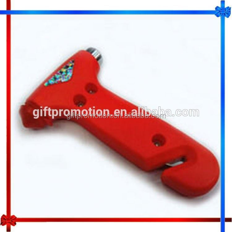 CX69 multifunctional auto car emergency life safety hammer with flashlight and beacon