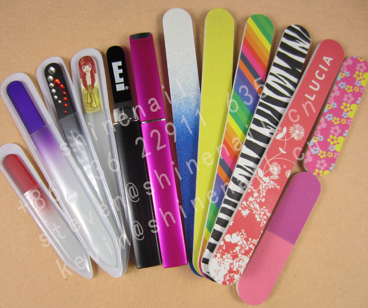 customized nail file, colorful glass nail file