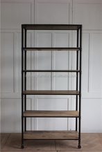 classical decorative solid wood and metal book wall <strong>shelf</strong>