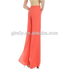 wholesale alibaba fashion yoga pants summer high waist ladies pantskirt women wide leg chiffon pant