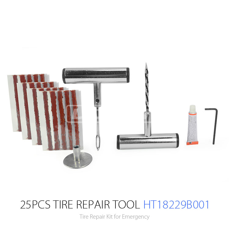Hot Sale Tubeless Tire Repair Kit Tyre Repair Equipment and Car Repair Tool Kit