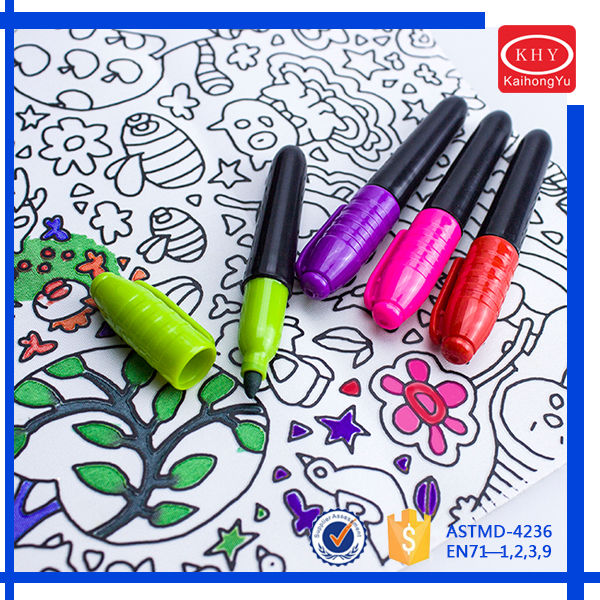 Promotional Multi-colors Mini T-shirt Permanent Fabric Marker set