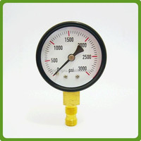water black steel bourdon tube pressure gauge