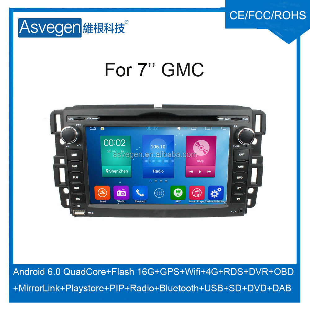 Wholesale Android Car DVD Player For 7'' GMC Support Buletooth Radio Wifi Playstore With Auto Spare Parts Car