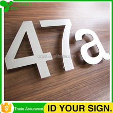 Laser Cut Brushed or Polished Finish Stainless Steel Plate Sign
