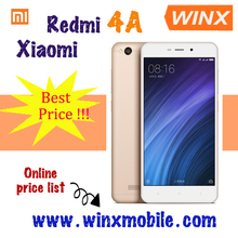 Original Xiao mi 4G Redmi 4A Gold Pink phone mobile 16GB rom 2GB ram unlock cellphone