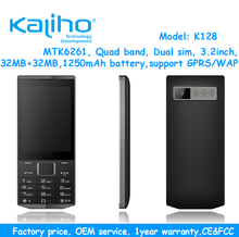 3.2inch big screen feature phone, 32+32MB bar phone with CE FCC certification phone
