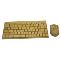 Custom wirless bamboo mouse and keyboard