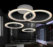 Modern LED chandeliers&pendant lights 4-ring design