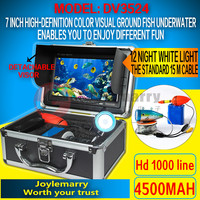 "7"" TFT LCD Monitor HD Underwater Fishing Camera 1000TVL Lines"