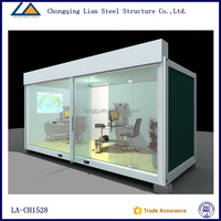 20 ft Prefab Flat Pack Office Container House in china