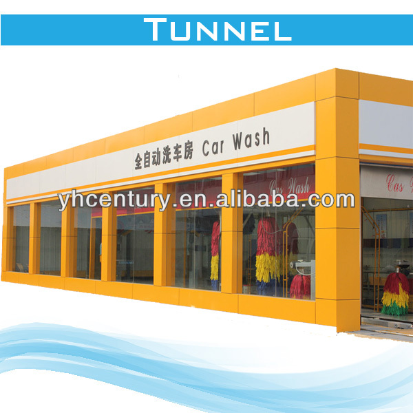 full automatic car wash machine tunnel,auto foaming and waxing tunnel car washing machine