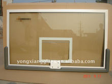 12mm clear tempered glass mini Basketball backboard with rings and all aluminium frame backboard bracket