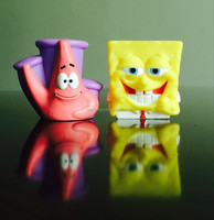 promotion gift 3D cartoon model Spongebob small cute vinly toy