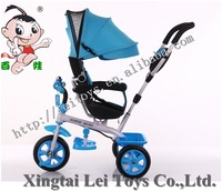 ride on toy style ride on car 3 EVA/AIR wheels 4 in1 children bicycle tricycle with canopy&rotate seat,push&foot power