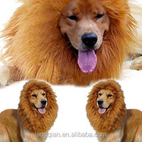 Fashion Dog Wigs Halloween Pet Lion Mane Wigs For Dog Cat