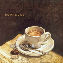Good selling modern still life coffee cup oil painting