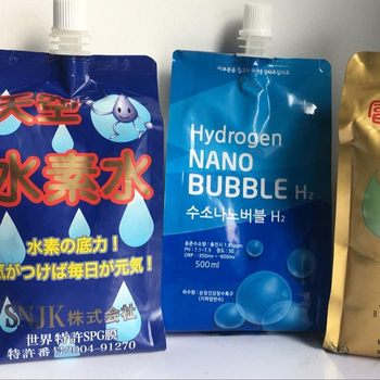 Hydrogen Water  stand up pouches