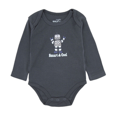 Cool Baby Bodysuit Embroidered Long Sleeve 100% Cotton Baby Winter Romper For Boy