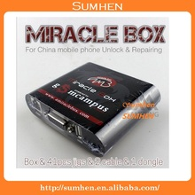 2016new original miracle box with key for china mobile phone unlock repairing box contain 41 jigs 2 cables software miracle team
