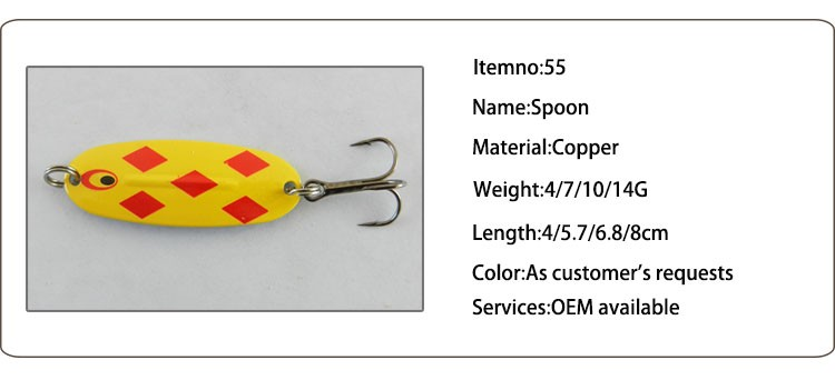 Free Samples !!! Factory Metal Spoon Fish Lure Fishing Spoon Blanks Fishing Lure Moulds