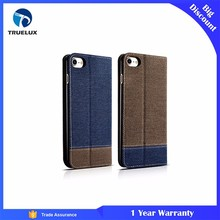 Alibaba Wholesale Flip Cover Case for iPhone 8 Plus Cowboy PU Leather Wallet Case