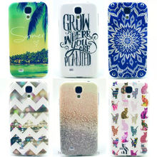2015 NEW TPU PINK Flower Dog Flower Printed Case For Samsung GALAXY S4mini i9190 S4 mini Gel Silicone Back Phone Cover
