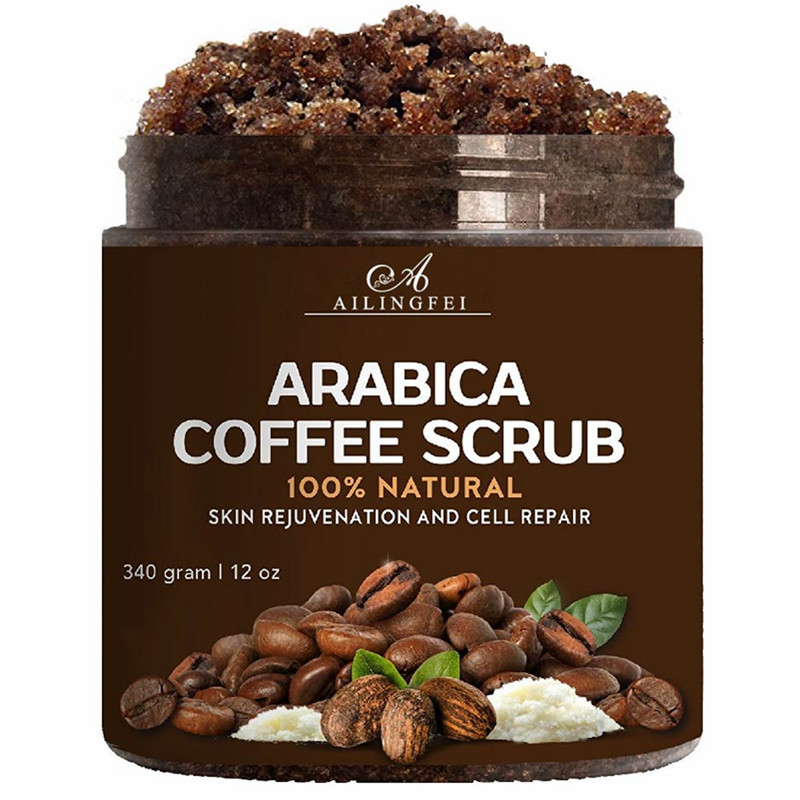 Organic Coffee Scrub 100% Natural With Arabica Coffee 12 oz