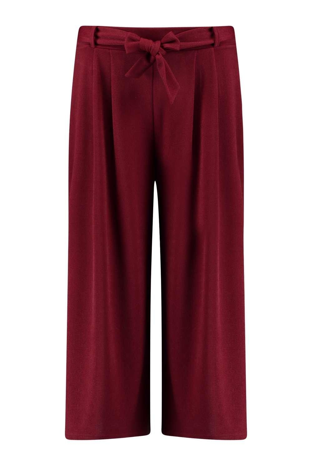 Summer Pants Selina Soft Crepe Red Pants For Ladies