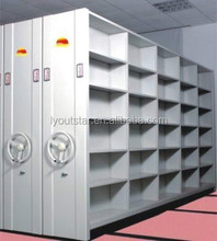Metal library file compactor cabinet movable full close mass shelf