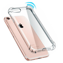 Fashion Clear Shockproof Protective TPU Silicon Back Cover Phone Case For Apple iPhone 8