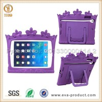 Crown Shape Kids kickstand case for ipad mini 8 inch tablet sleeve