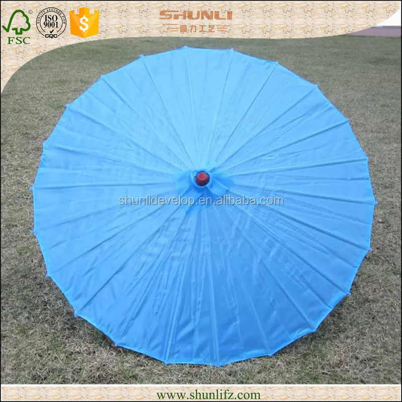 Chinese blue Paper Parasols Wholesale Paper Wedding Crafts