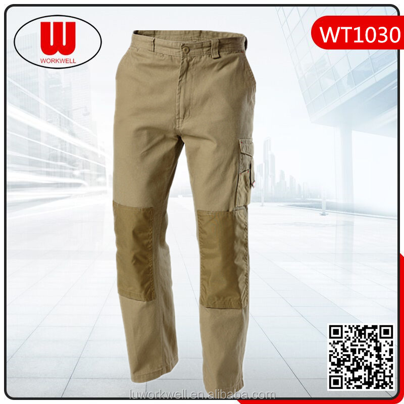 Khaki work trousers for mens