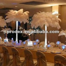Snow White Ostrich Feather Wing Plume for Wedding Centerpiece Decoration