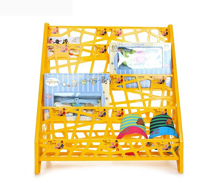 Reasonable price customized children plastic bookshelf